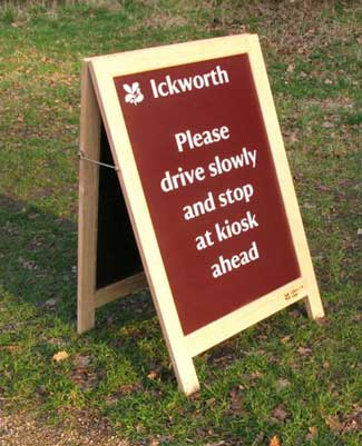 A-Board Ickworth Lt Oak
