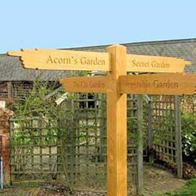 Acorn-garden finger-posts