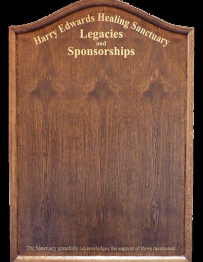 Oak Honours Board- Serpentine top