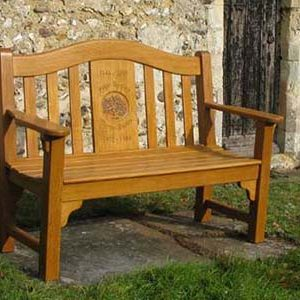 Oak Memorial Bench St-John Bench-3-4seater